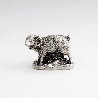 錫 置物 干支 未(羊) イブシ加工 商品番号:186-8/名入れ・マーク入れ 不可