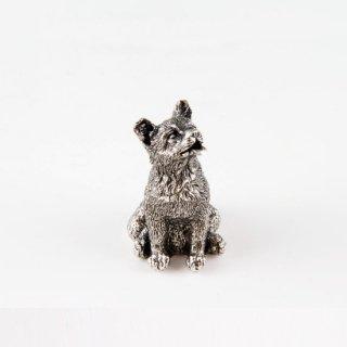 錫 置物 干支 戌(犬) イブシ加工 商品番号:186A-11/名入れ・マーク入れ 不可