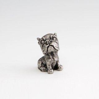 錫 置物 犬 イブシ加工 商品番号:186C-11-3/名入れ・マーク入れ 不可