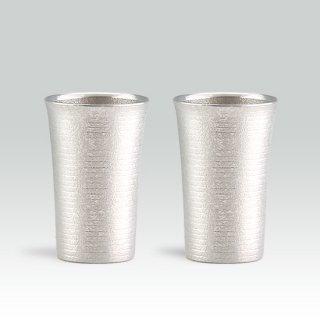 錫 タンブラー スマート 2個セット 吹雪加工 180ml 商品番号:79A-1/名入れ・マーク入れ 不可