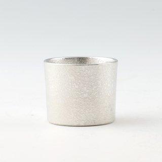 錫 ぐい呑 吹雪 白 吹雪加工 30ml 商品番号:90B-1/名入れ・マーク入れ 不可