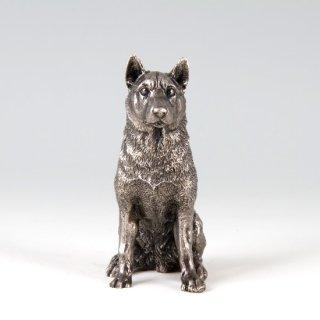 錫 置物 犬 イブシ加工 商品番号:186G-11/名入れ・マーク入れ 不可