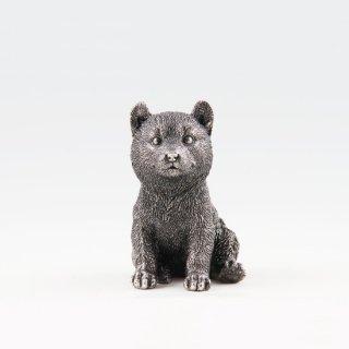 錫 置物 犬 イブシ加工 商品番号:186E-11/名入れ・マーク入れ 不可