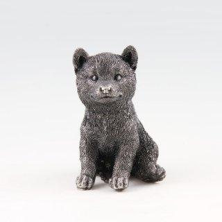 錫 置物 犬 イブシ加工 商品番号:186F-11/名入れ・マーク入れ 不可
