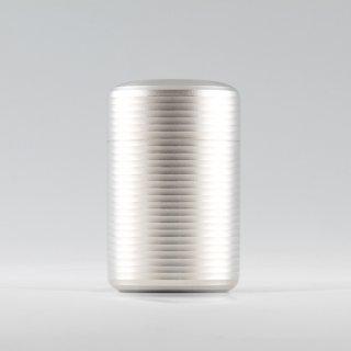 錫 茶筒 白上 白上加工 100g 商品番号:19-1/名入れ・マーク入れ 不可