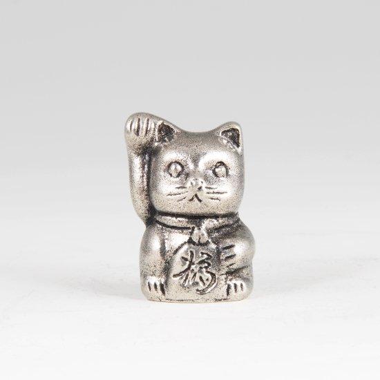 錫 置物 招き猫 イブシ加工 商品番号:181A-2