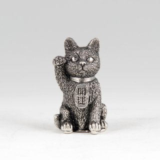 錫 置物 招き猫 イブシ加工 商品番号:181D-1/名入れ・マーク入れ 不可