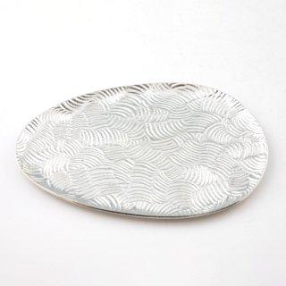 錫 銘々皿 雫 商品番号:1090-3/名入れ・マーク入れ 不可