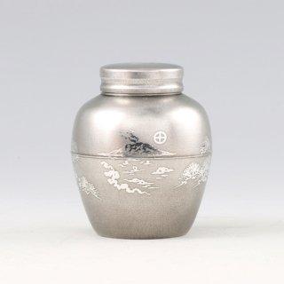 錫 茶壺 桜島 イブシ加工 120g 商品番号:5-1/名入れ・マーク入れ 不可