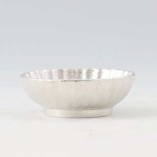 錫 小鉢菊 白仕上げ 商品番号:1300-1/名入れ・マーク入れ 不可