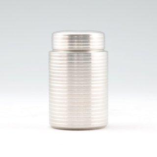 錫 茶筒 白仕上げ加工  120g 商品番号:17-10/名入れ・マーク入れ 不可