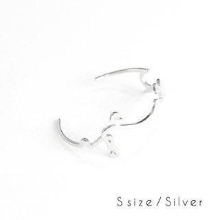 hiragana BANGLE<br />ふじさん - Silver / 2size