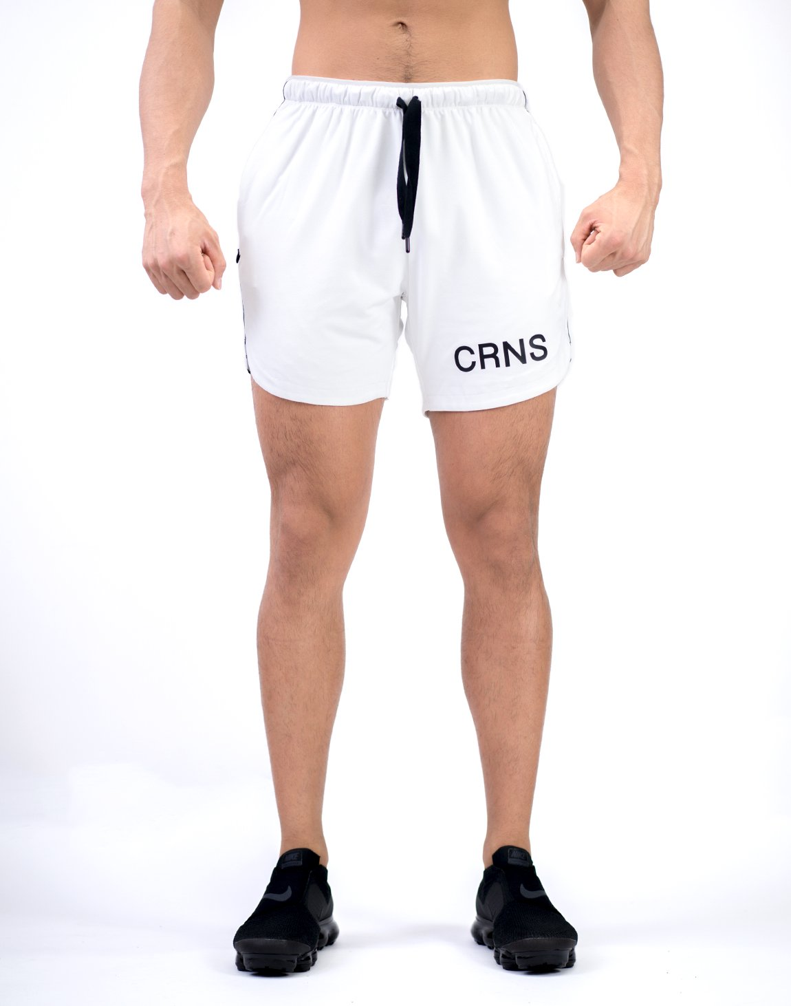 <img class='new_mark_img1' src='https://img.shop-pro.jp/img/new/icons1.gif' style='border:none;display:inline;margin:0px;padding:0px;width:auto;' />CRNS Logo Tape Shorts White