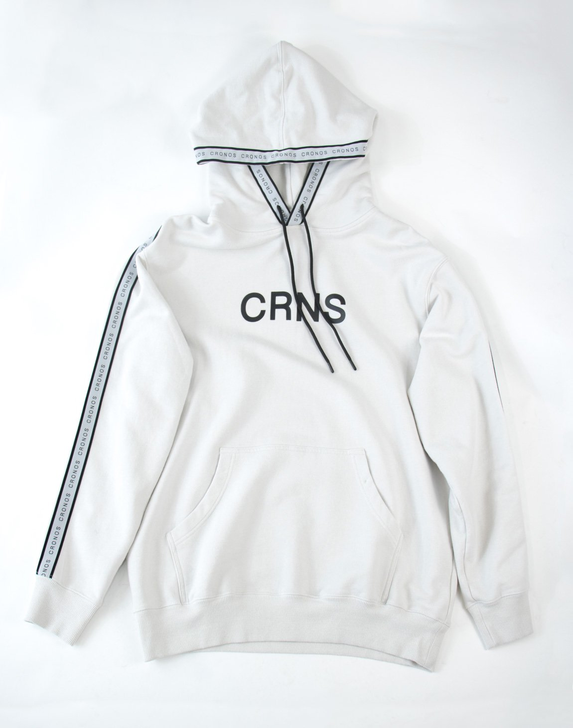 CRNS Log Tape Pull Over Parka WHITE