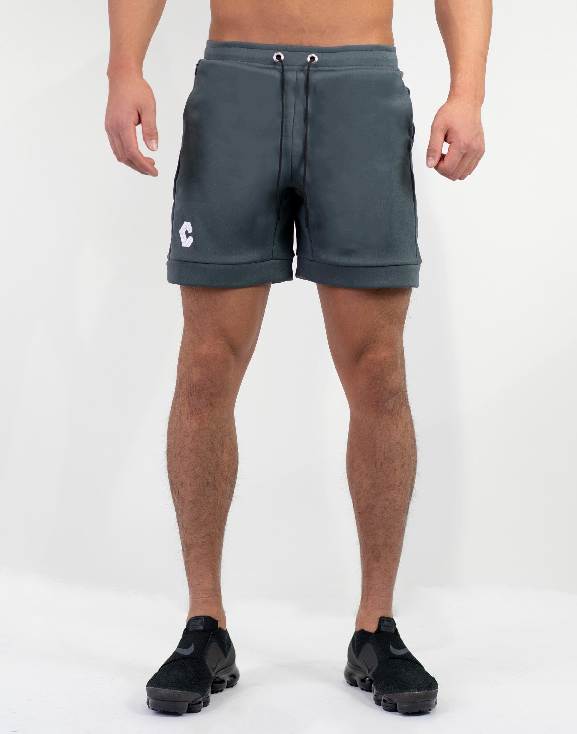 Side Logo Shorts Gray