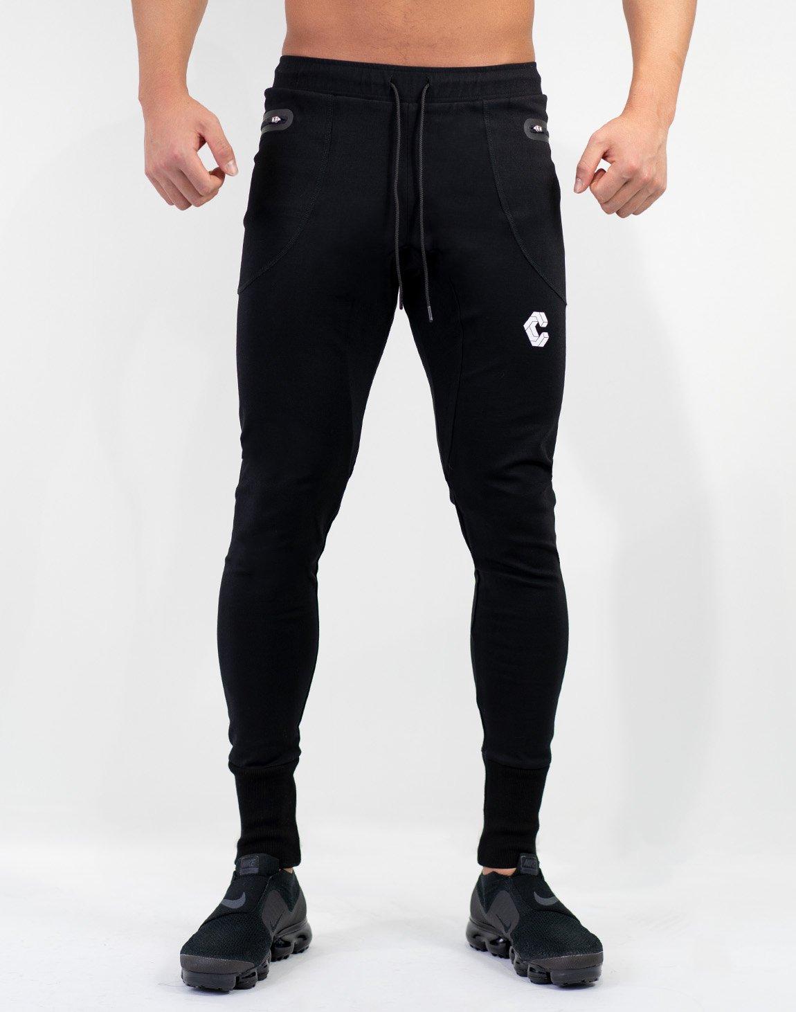 <img class='new_mark_img1' src='https://img.shop-pro.jp/img/new/icons55.gif' style='border:none;display:inline;margin:0px;padding:0px;width:auto;' />Mode Calf Logo jogger Pants Black
