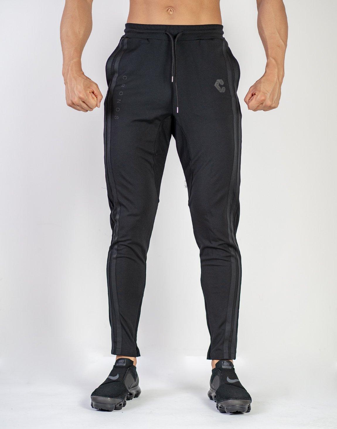 MODE  2STRIPE PANTS (SUMMER FABRIC)SP.BLACK