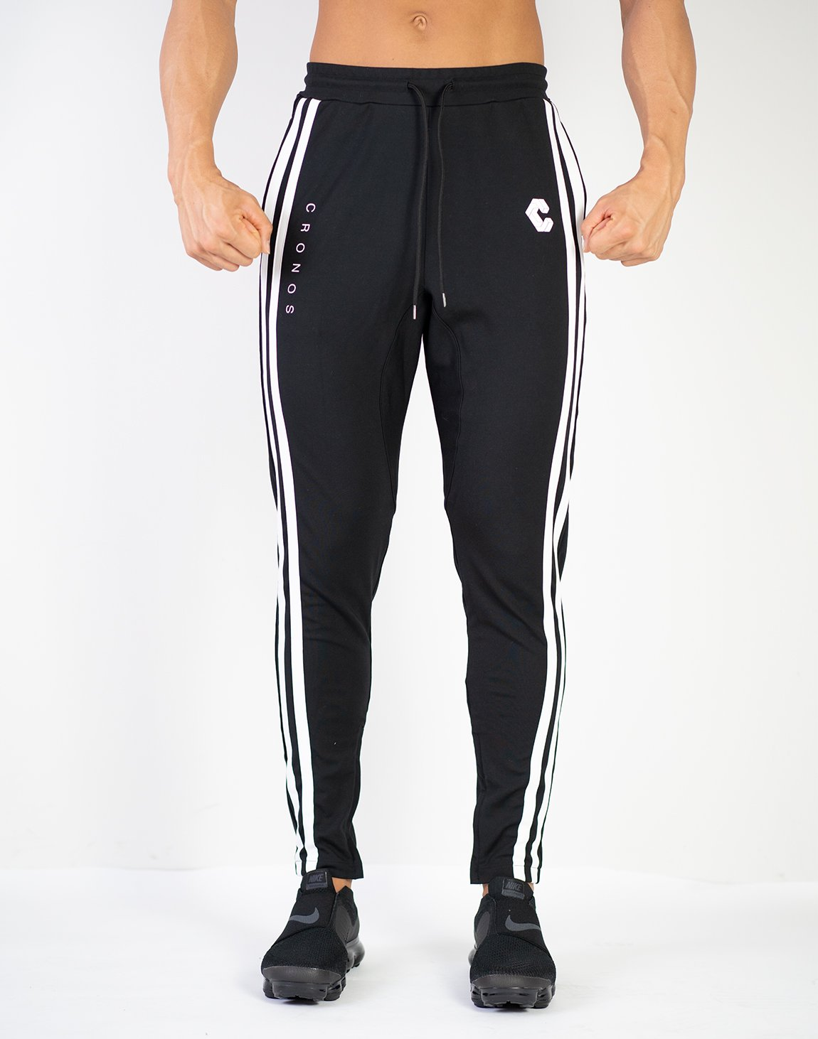 <img class='new_mark_img1' src='https://img.shop-pro.jp/img/new/icons1.gif' style='border:none;display:inline;margin:0px;padding:0px;width:auto;' />MODE  2STRIPE PANTS (SUMMER FABRIC)BLACK