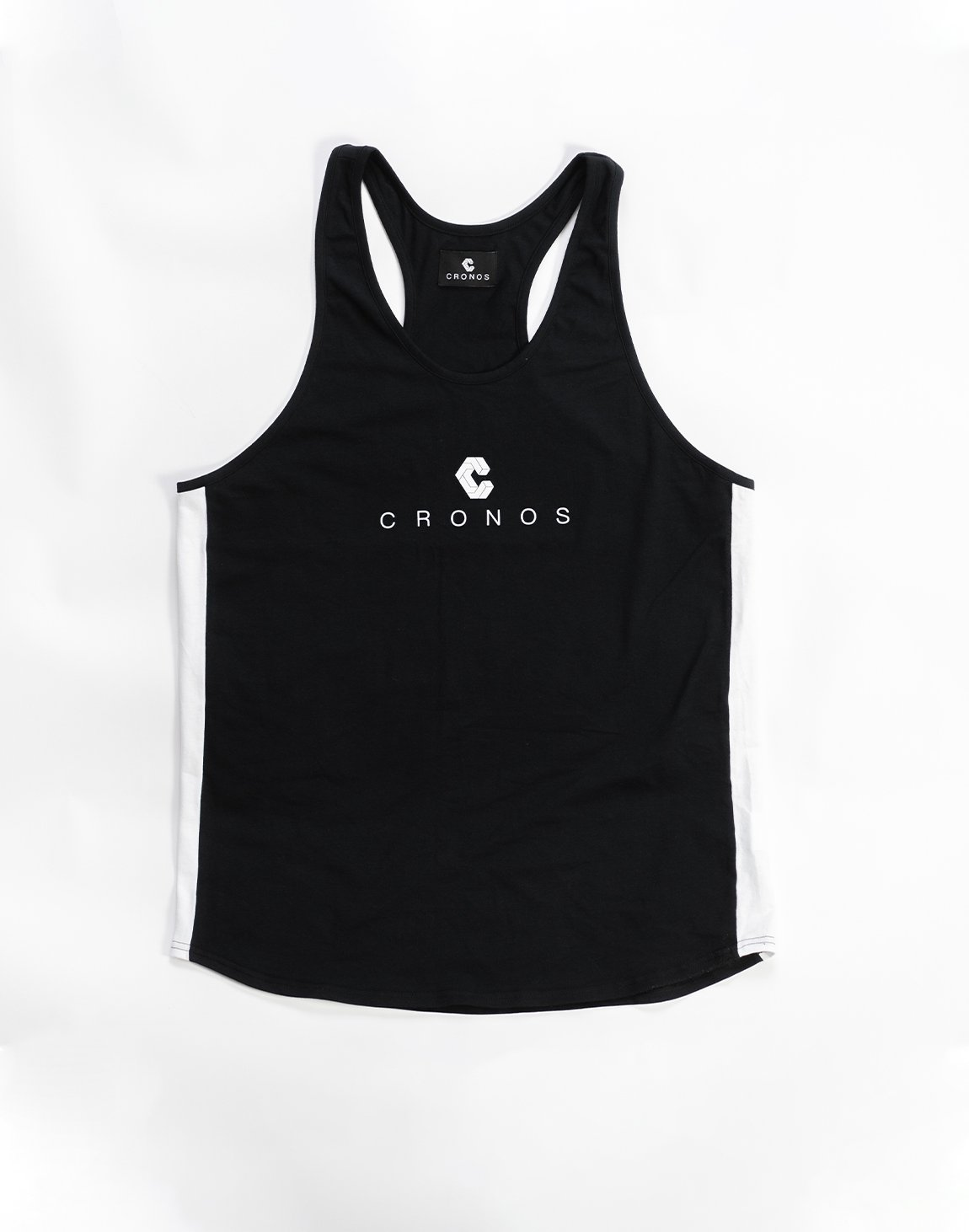 <img class='new_mark_img1' src='https://img.shop-pro.jp/img/new/icons1.gif' style='border:none;display:inline;margin:0px;padding:0px;width:auto;' />CRONOS SIDE COLOR   TANKTOP BLACK&WHITE