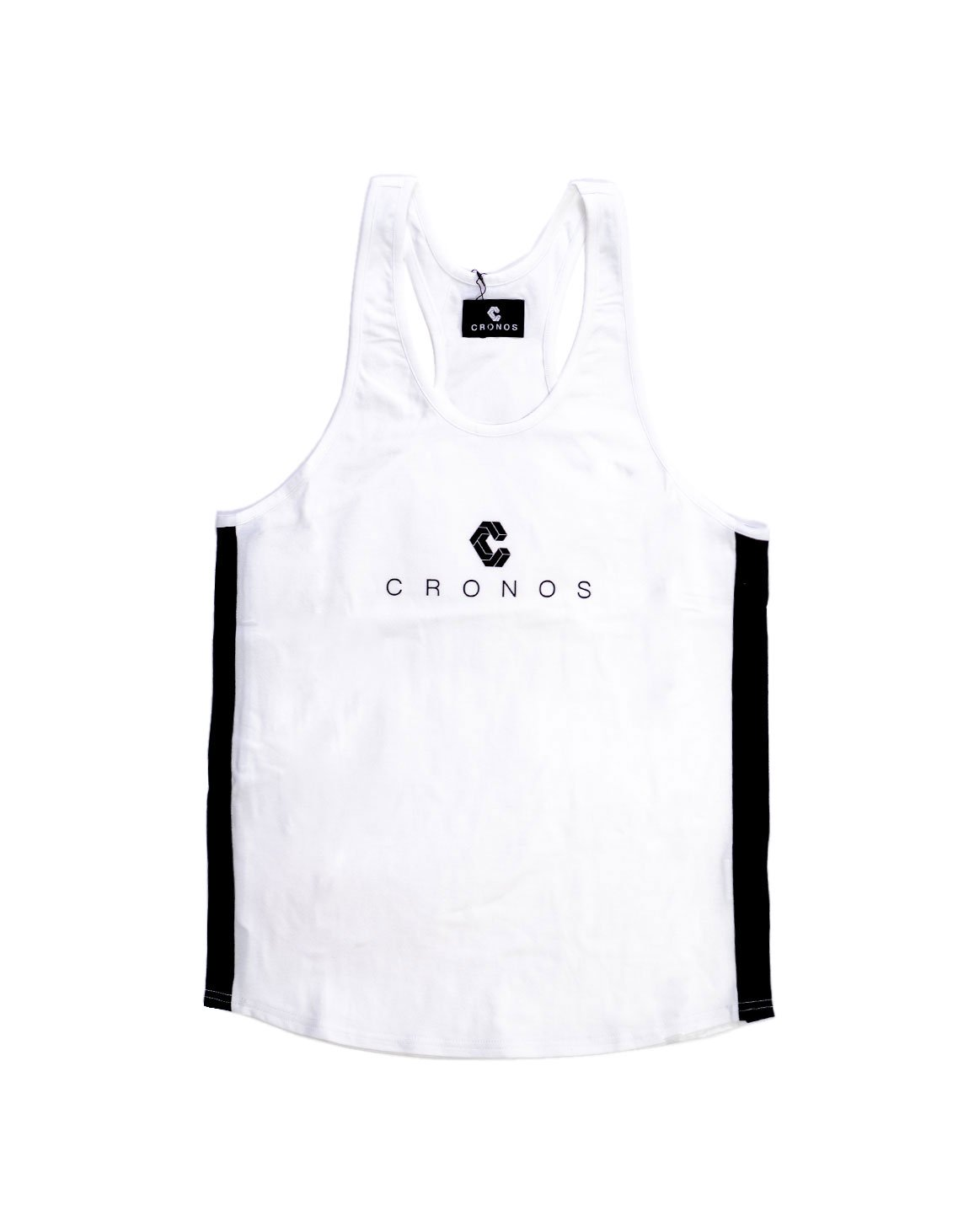 <img class='new_mark_img1' src='https://img.shop-pro.jp/img/new/icons1.gif' style='border:none;display:inline;margin:0px;padding:0px;width:auto;' />CRONOS SIDE COLOR  TANKTOP WHITE&BLACK
