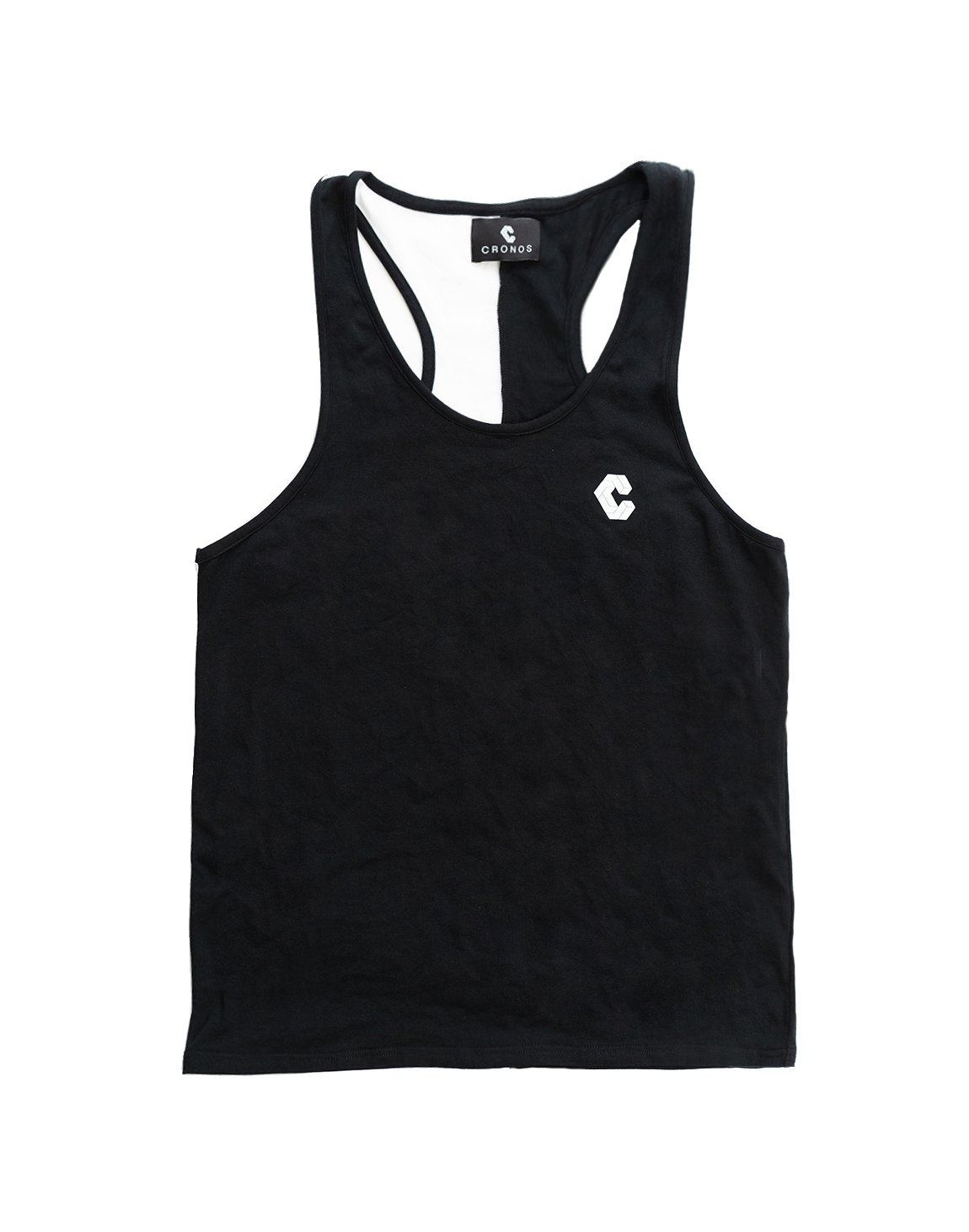 <img class='new_mark_img1' src='https://img.shop-pro.jp/img/new/icons1.gif' style='border:none;display:inline;margin:0px;padding:0px;width:auto;' />CRONOS BACK TWOLINE TANKTOP BLACK