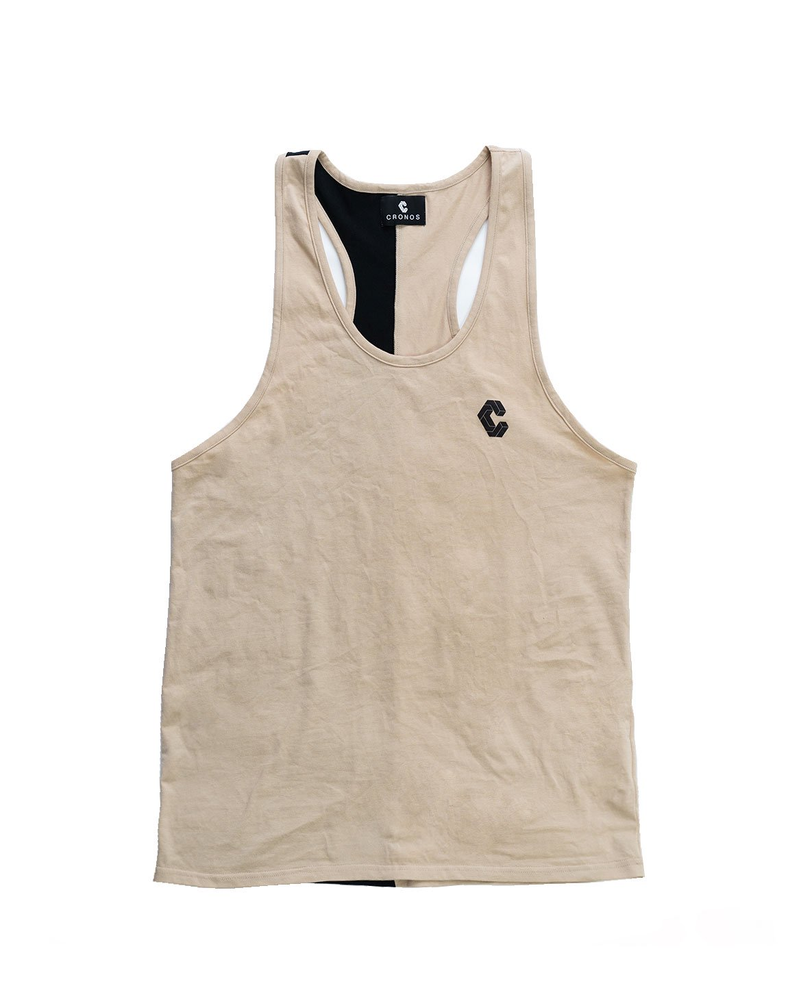 <img class='new_mark_img1' src='https://img.shop-pro.jp/img/new/icons1.gif' style='border:none;display:inline;margin:0px;padding:0px;width:auto;' />CRONOS BACK TWOLINE TANKTOP BEIGE