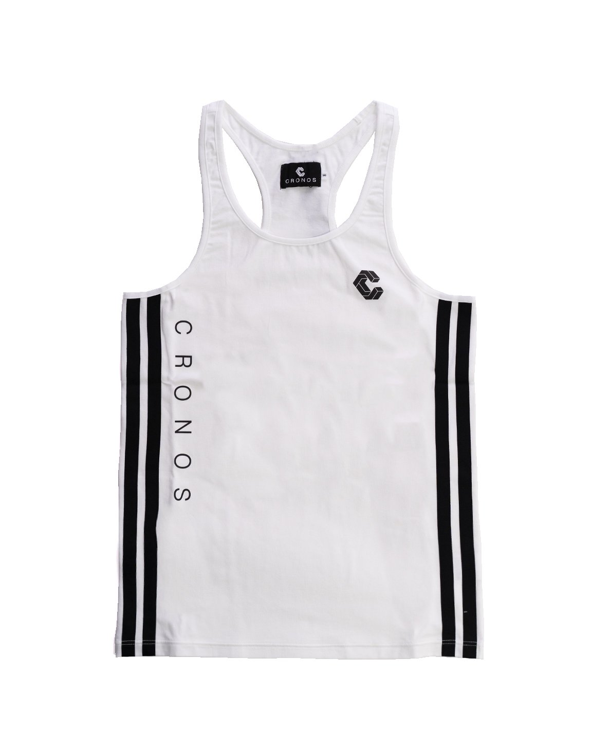 <img class='new_mark_img1' src='https://img.shop-pro.jp/img/new/icons1.gif' style='border:none;display:inline;margin:0px;padding:0px;width:auto;' />CRONOS SIDE TWO LINE TANKTOP WHITE