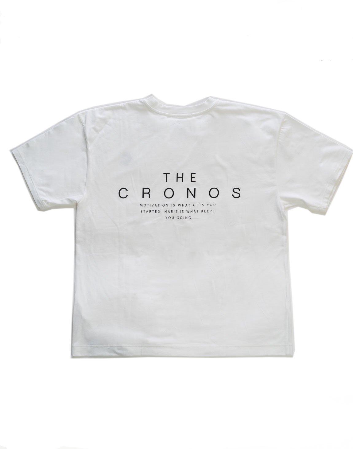 THE CRONOS Back Logo Big Size T-Shirt  WHITE