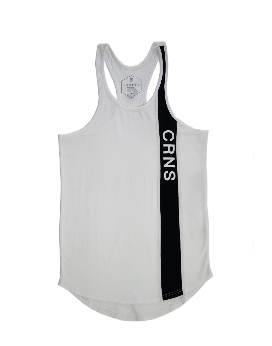 <img class='new_mark_img1' src='https://img.shop-pro.jp/img/new/icons1.gif' style='border:none;display:inline;margin:0px;padding:0px;width:auto;' />CRNS Line Tank top  WHITE