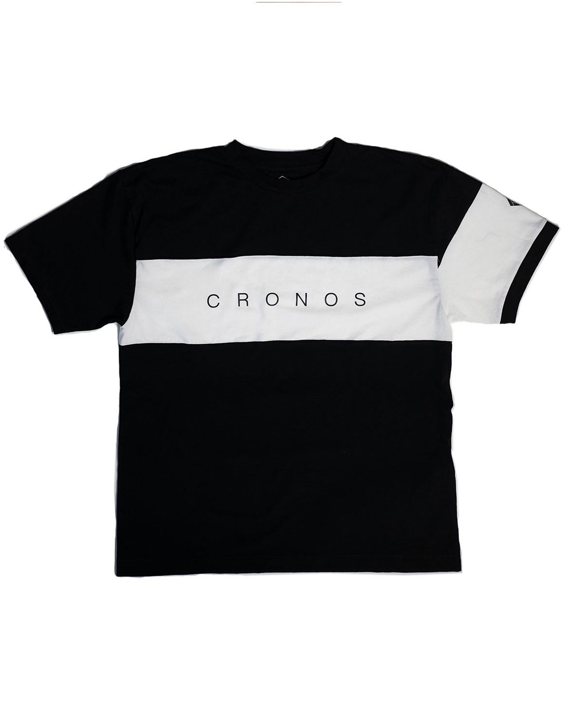<img class='new_mark_img1' src='https://img.shop-pro.jp/img/new/icons1.gif' style='border:none;display:inline;margin:0px;padding:0px;width:auto;' />CRONOS FRONT THICK LINE  T-SHIRT BLACK