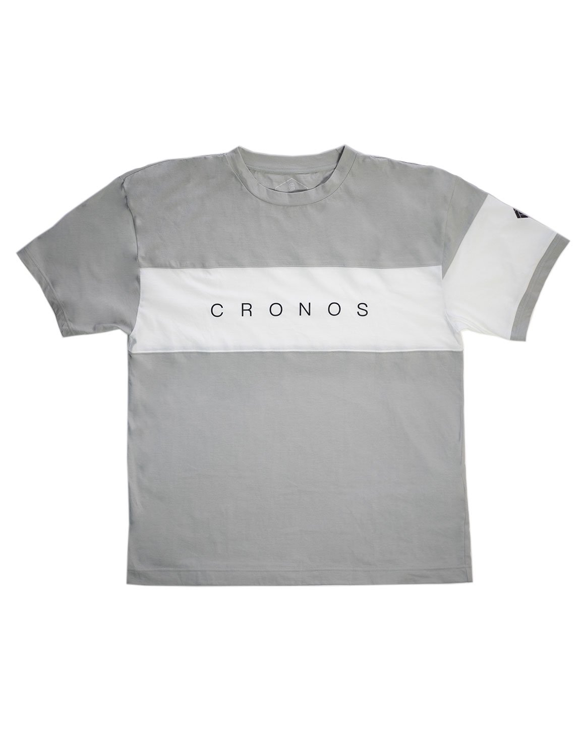 <img class='new_mark_img1' src='https://img.shop-pro.jp/img/new/icons1.gif' style='border:none;display:inline;margin:0px;padding:0px;width:auto;' />CRONOS FRONT THICK LINE  T-SHIRT GRAY