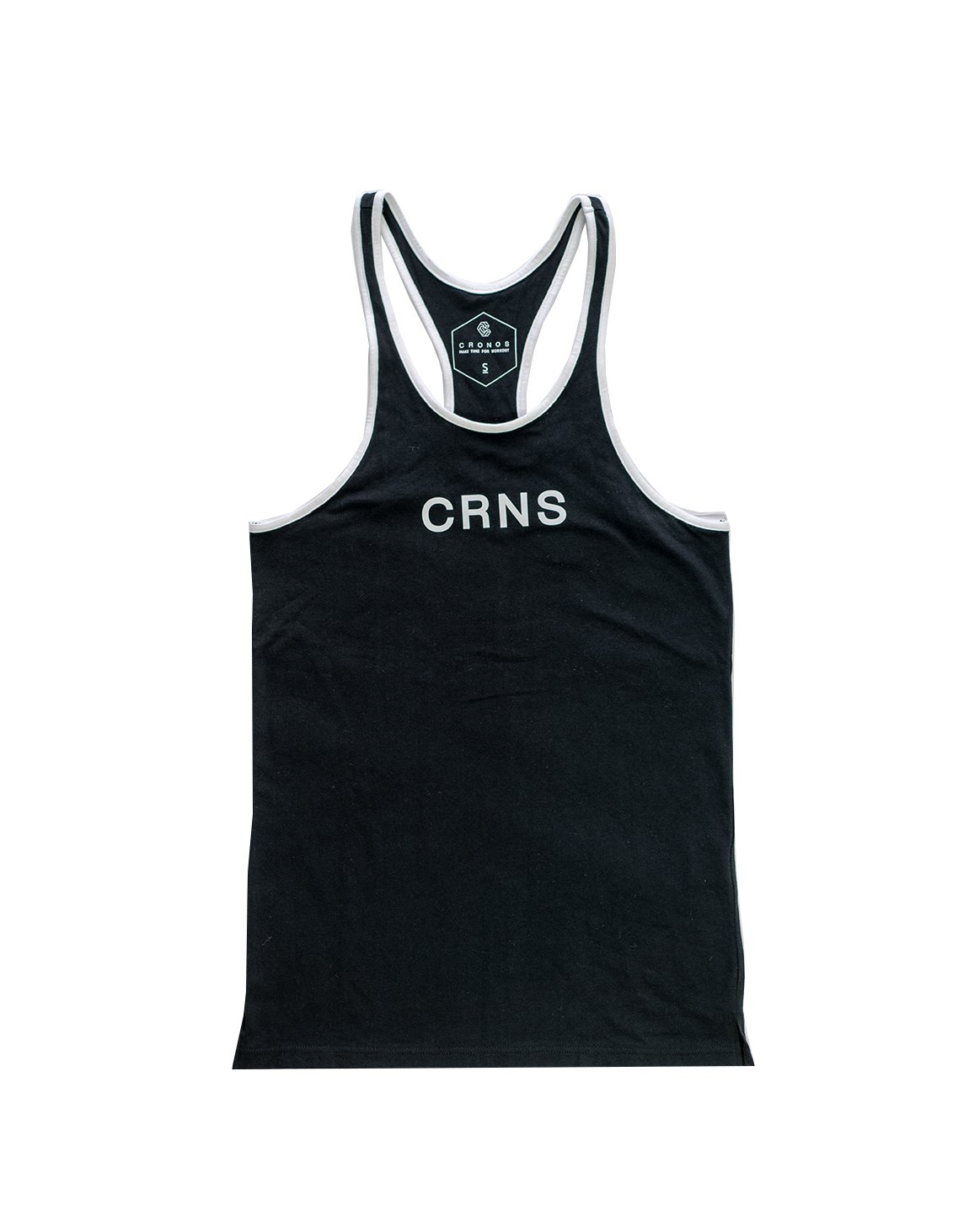 <img class='new_mark_img1' src='https://img.shop-pro.jp/img/new/icons1.gif' style='border:none;display:inline;margin:0px;padding:0px;width:auto;' />CRNS PIPING TANK TOP BLACK