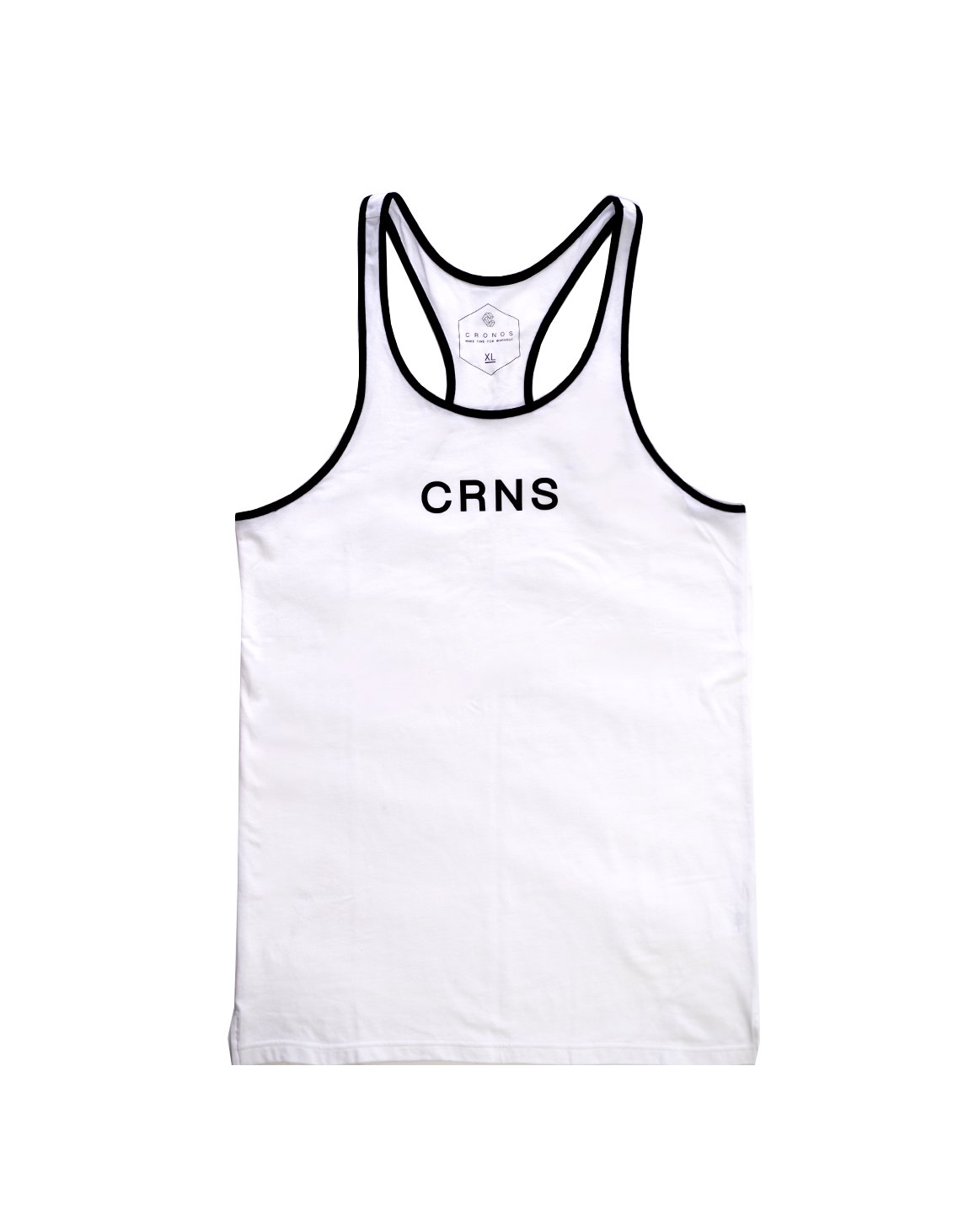 <img class='new_mark_img1' src='https://img.shop-pro.jp/img/new/icons1.gif' style='border:none;display:inline;margin:0px;padding:0px;width:auto;' />CRNS PIPING TANK TOP WHITE
