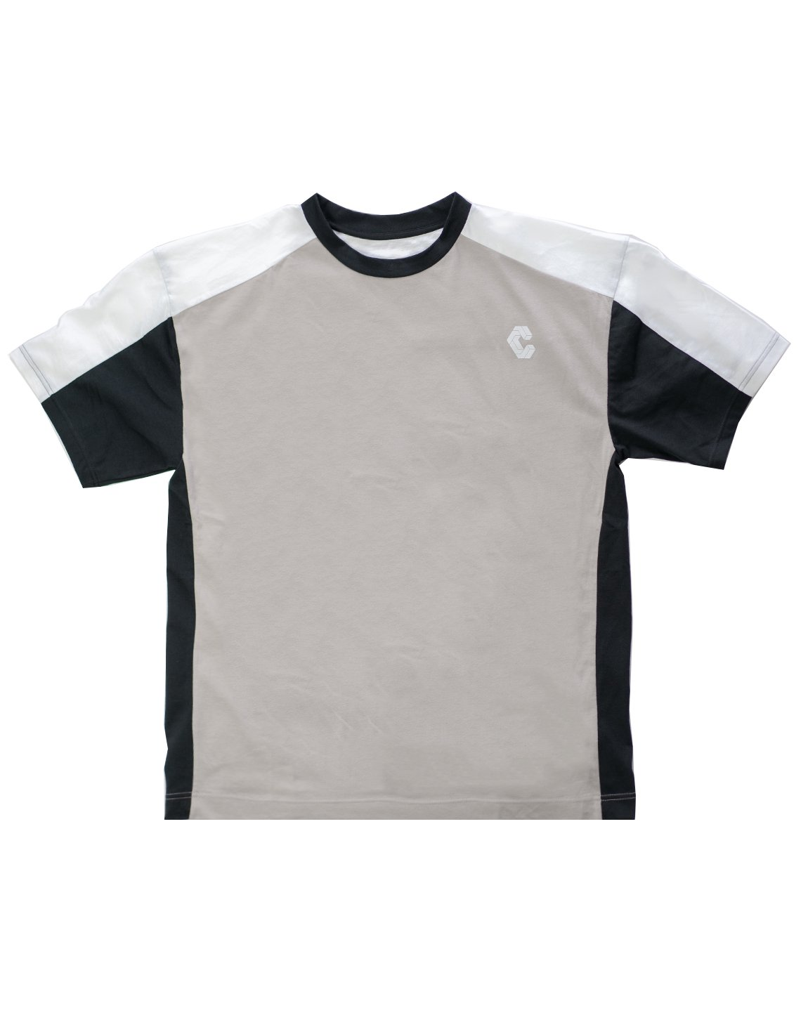 <img class='new_mark_img1' src='https://img.shop-pro.jp/img/new/icons1.gif' style='border:none;display:inline;margin:0px;padding:0px;width:auto;' />CRONOS BACK LOGO OVER SIZE  T-SHIRT GRAY
