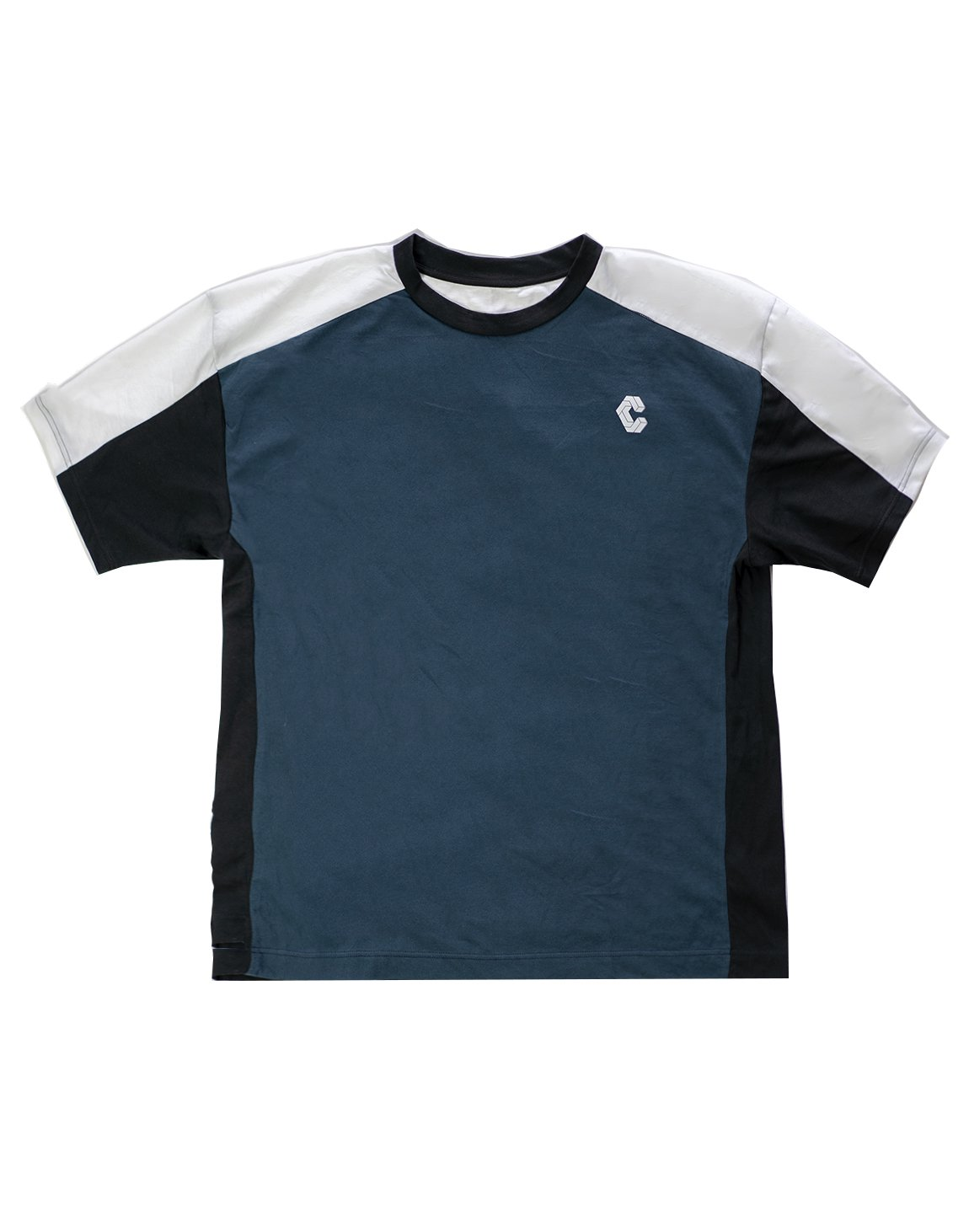 <img class='new_mark_img1' src='https://img.shop-pro.jp/img/new/icons1.gif' style='border:none;display:inline;margin:0px;padding:0px;width:auto;' />CRONOS BACK LOGO OVER SIZE  T-SHIRT NAVY