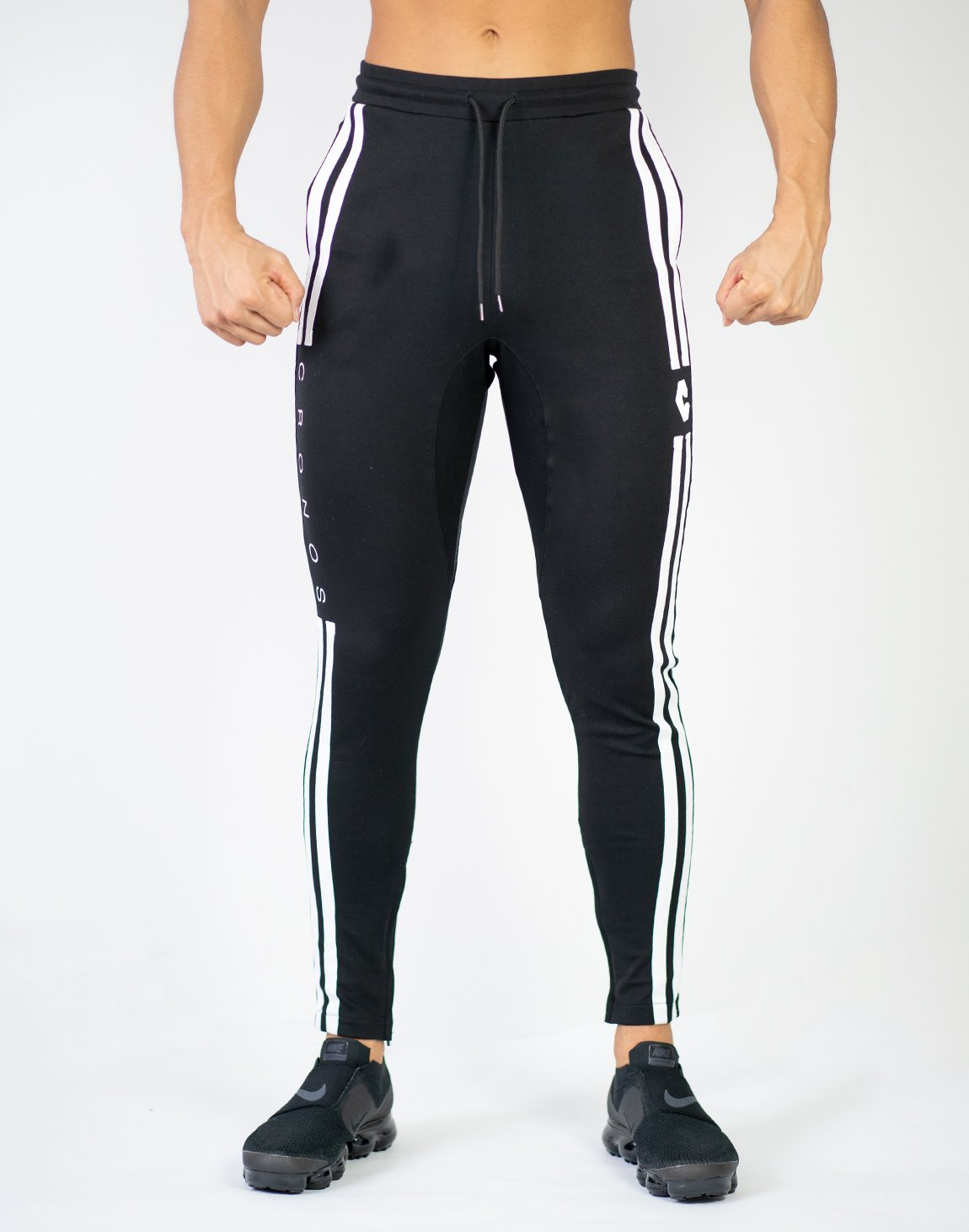 <img class='new_mark_img1' src='https://img.shop-pro.jp/img/new/icons1.gif' style='border:none;display:inline;margin:0px;padding:0px;width:auto;' />CRONOS NEW MODE 2STRIPE PANTS BLACK