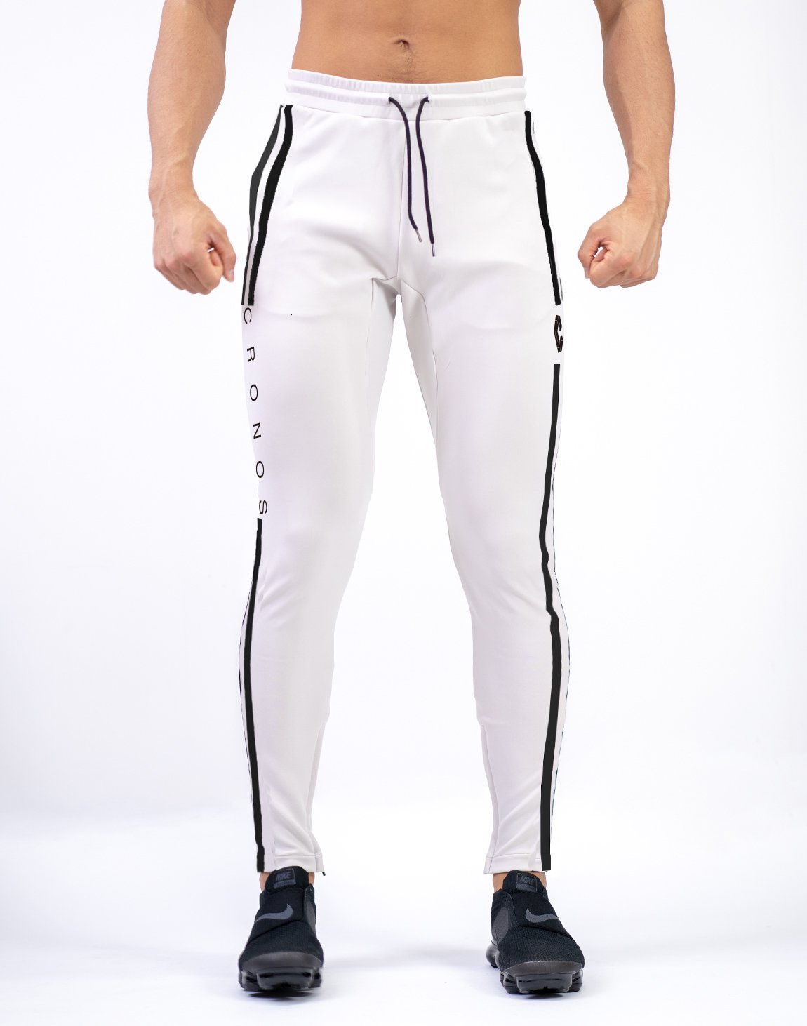 <img class='new_mark_img1' src='https://img.shop-pro.jp/img/new/icons1.gif' style='border:none;display:inline;margin:0px;padding:0px;width:auto;' />CRONOS NEW MODE 2STRIPE PANTS WHITE