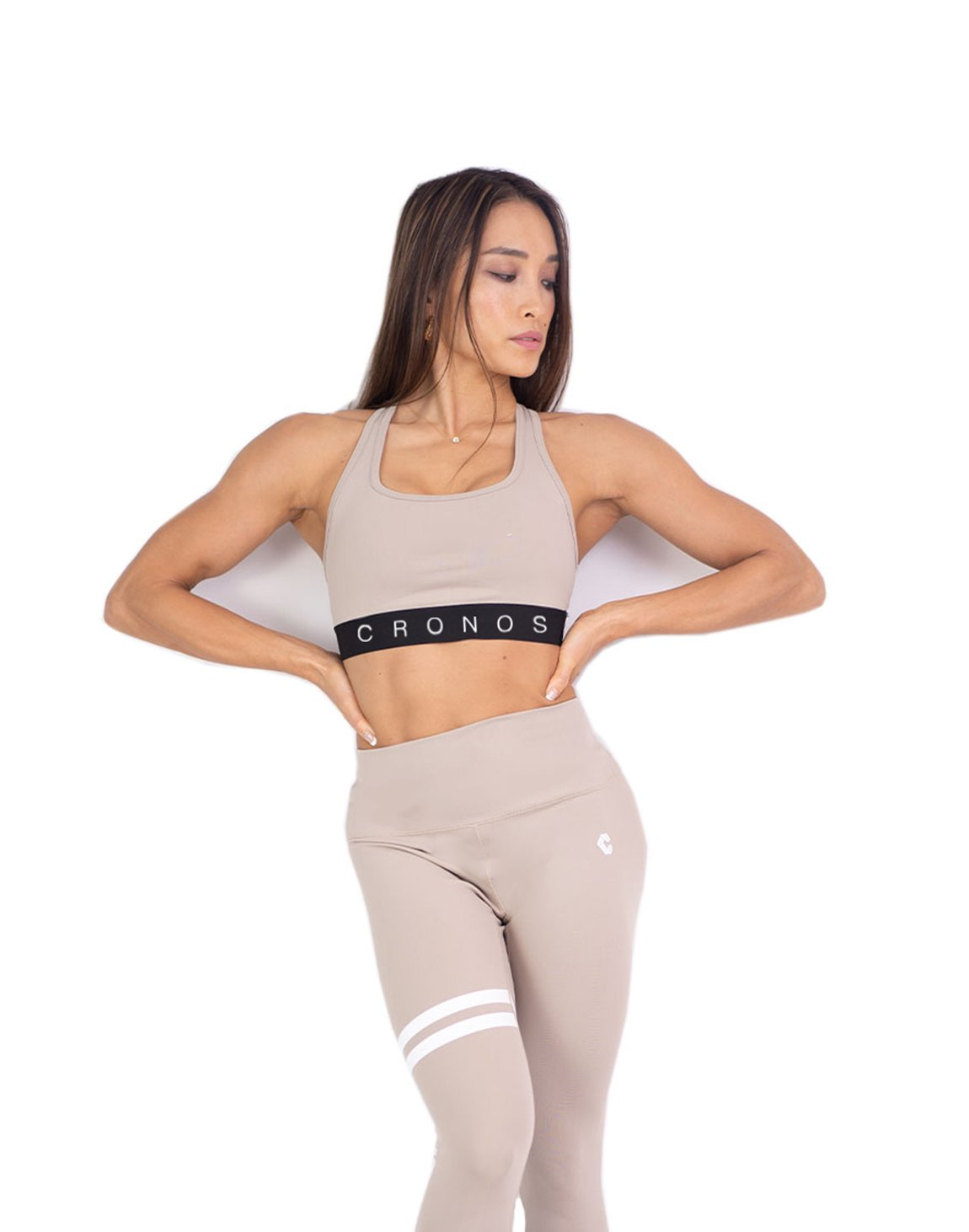 <img class='new_mark_img1' src='https://img.shop-pro.jp/img/new/icons1.gif' style='border:none;display:inline;margin:0px;padding:0px;width:auto;' />CRONOS LOGO SPORTS BRA  BEIGE