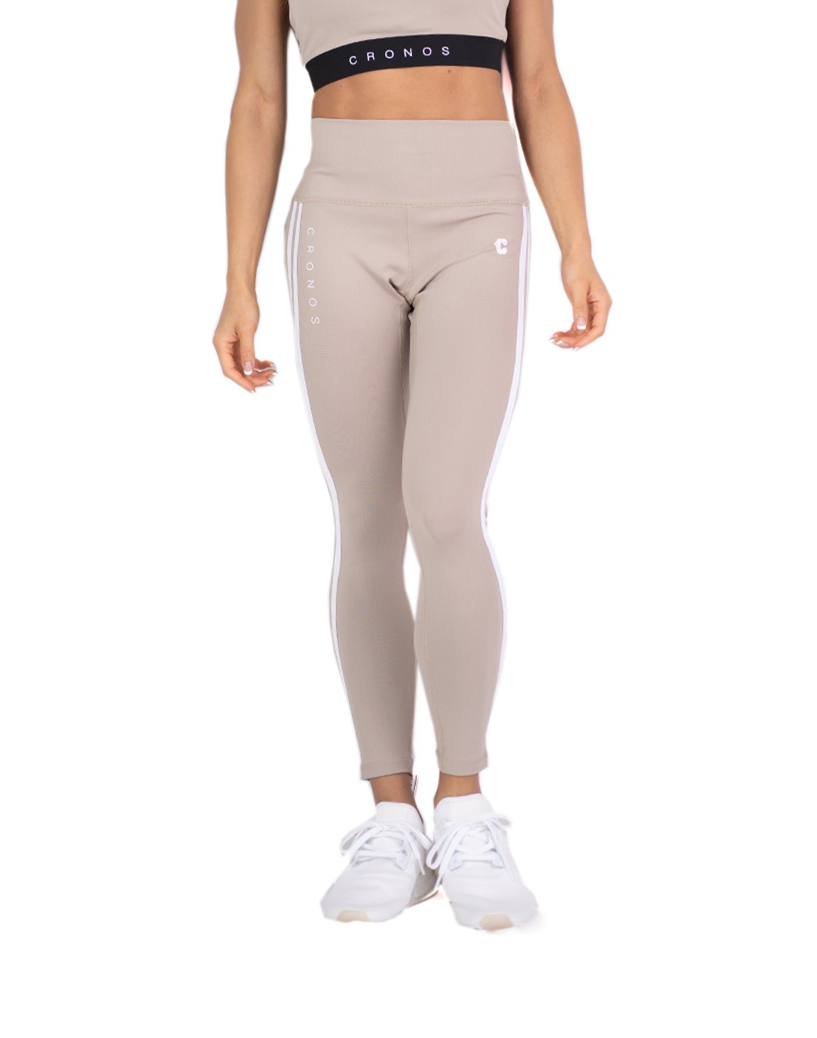 <img class='new_mark_img1' src='https://img.shop-pro.jp/img/new/icons1.gif' style='border:none;display:inline;margin:0px;padding:0px;width:auto;' />CRONOS MODE 2STRIPE LEGGINS  BEIGE