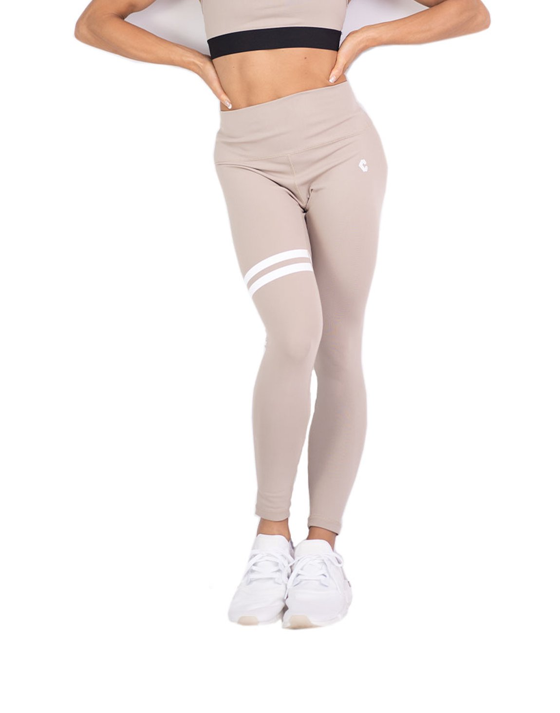 <img class='new_mark_img1' src='https://img.shop-pro.jp/img/new/icons1.gif' style='border:none;display:inline;margin:0px;padding:0px;width:auto;' />CRONOS 2LINE LEGGINS  BEIGE
