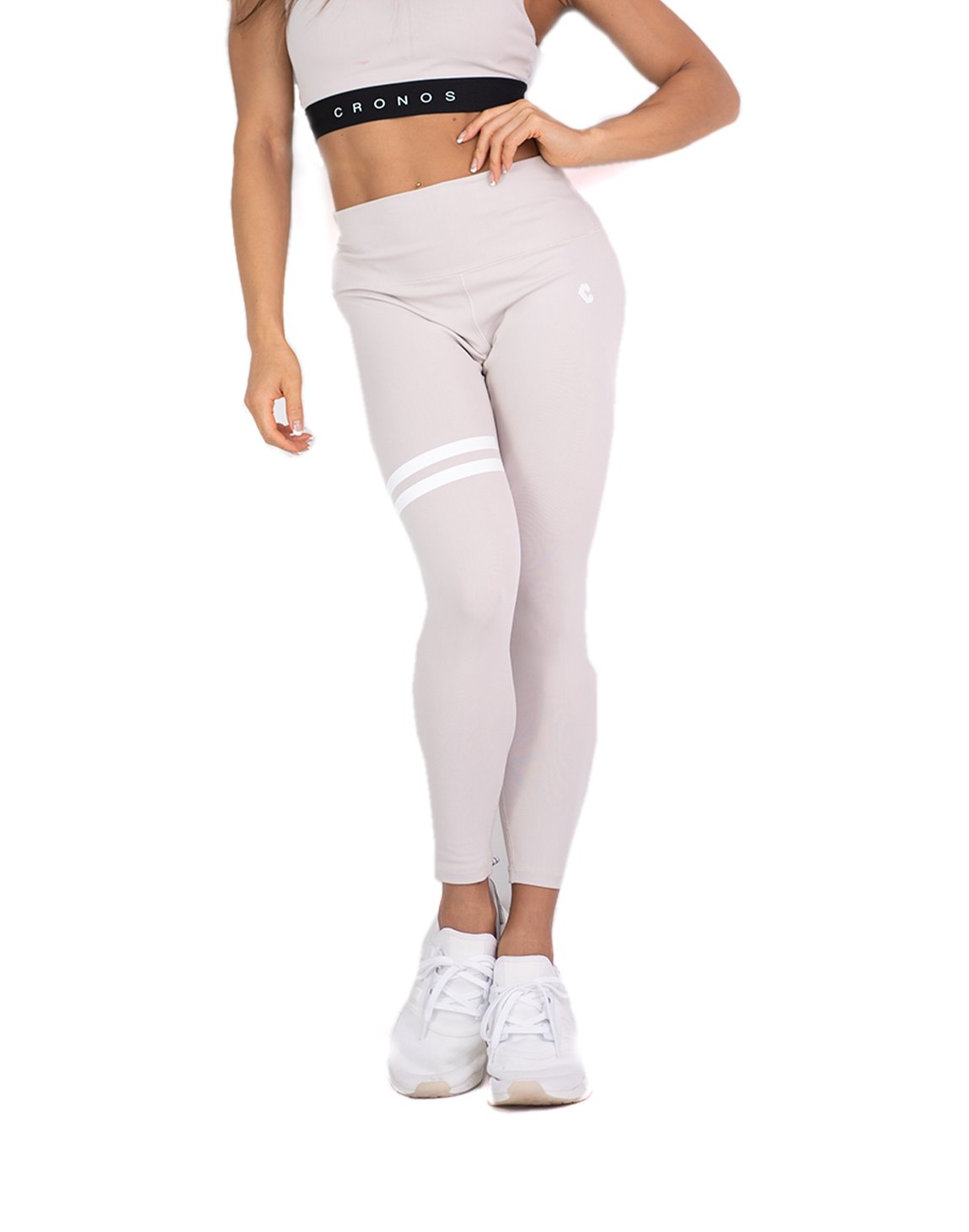 <img class='new_mark_img1' src='https://img.shop-pro.jp/img/new/icons1.gif' style='border:none;display:inline;margin:0px;padding:0px;width:auto;' />CRONOS 2LINE LEGGINS  GRAY