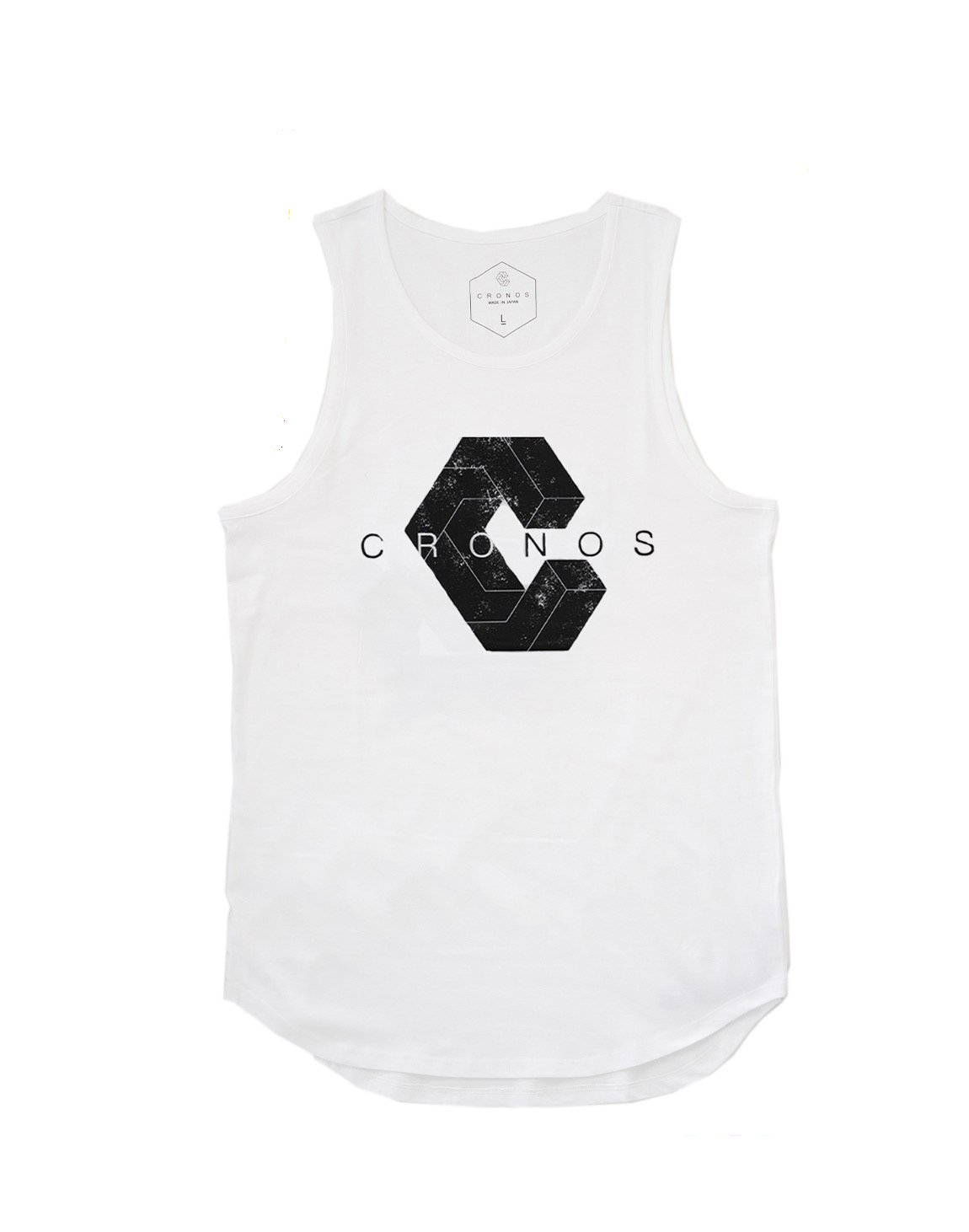 <img class='new_mark_img1' src='https://img.shop-pro.jp/img/new/icons1.gif' style='border:none;display:inline;margin:0px;padding:0px;width:auto;' />CRONOS NEW LOGO TANK TOP 【WHITE】