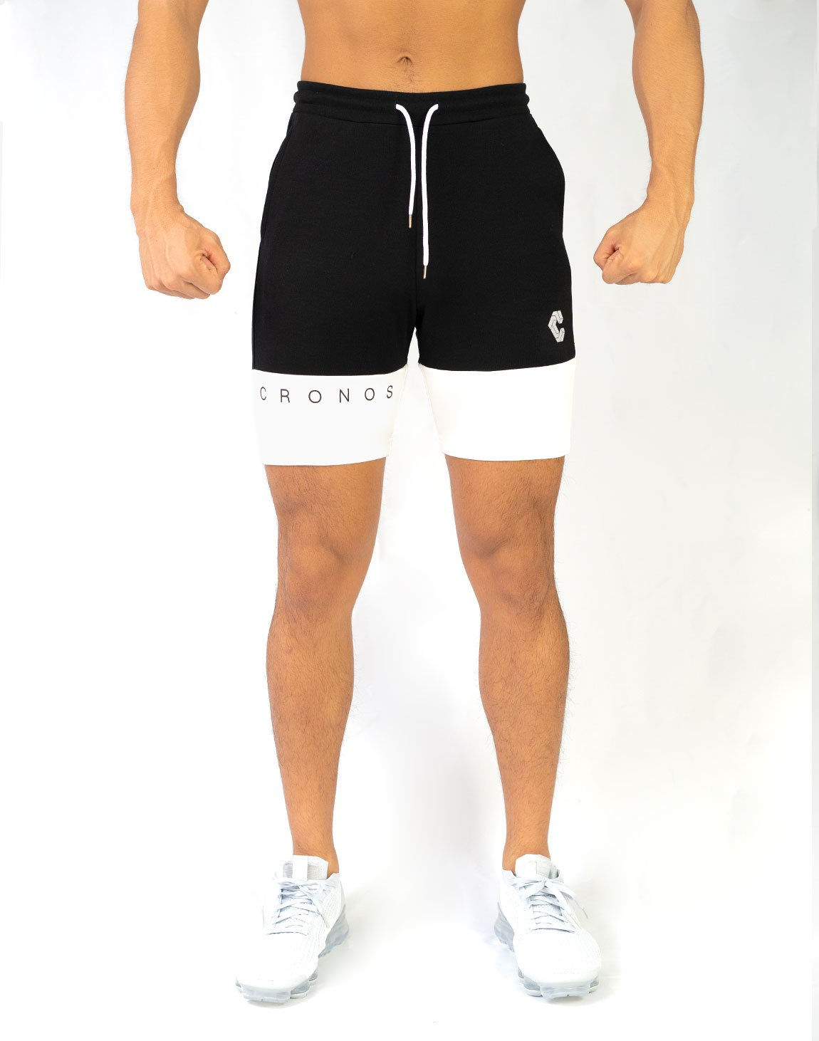 CRONOS TWO COLOR SHORTS【BLACK】