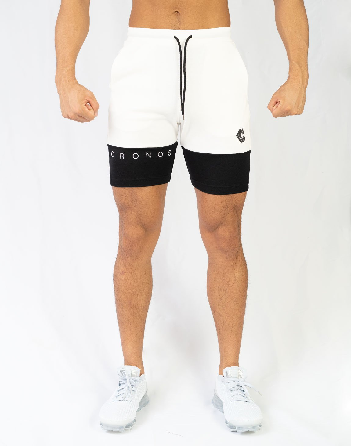 CRONOS TWO COLOR SHORTS【WHITE】