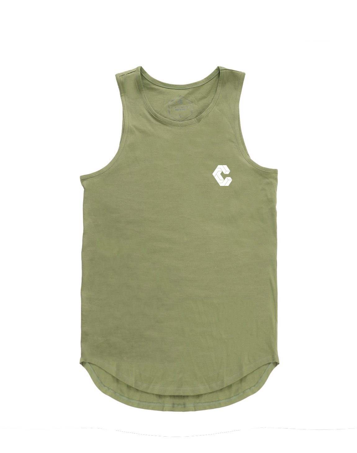 <img class='new_mark_img1' src='https://img.shop-pro.jp/img/new/icons1.gif' style='border:none;display:inline;margin:0px;padding:0px;width:auto;' />CRONOS BACK BOX LOGO TANK TOP 【OILVE&KHAKI】