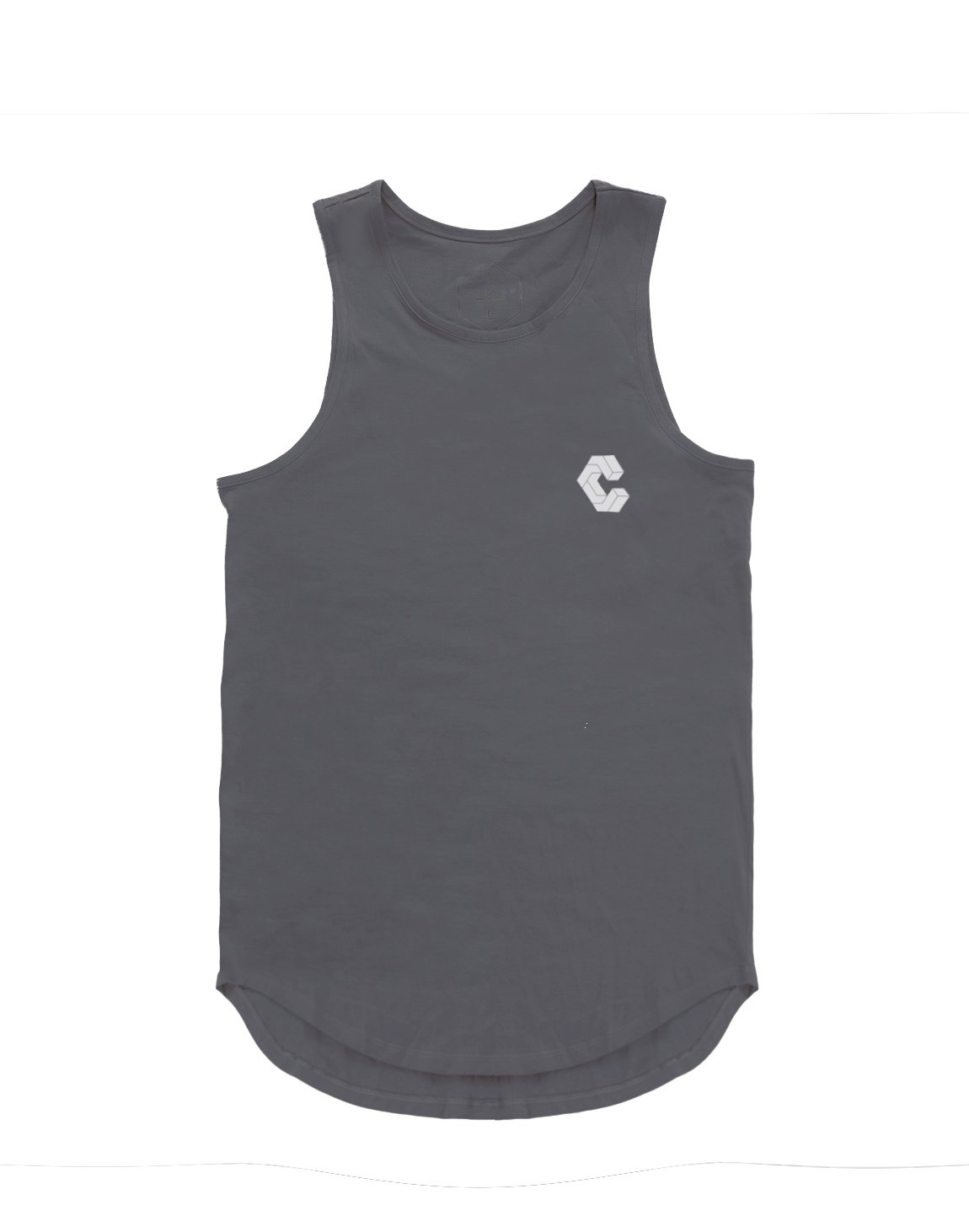 <img class='new_mark_img1' src='https://img.shop-pro.jp/img/new/icons1.gif' style='border:none;display:inline;margin:0px;padding:0px;width:auto;' />CRONOS BACK BOX LOGO TANK TOP 【GRAY】