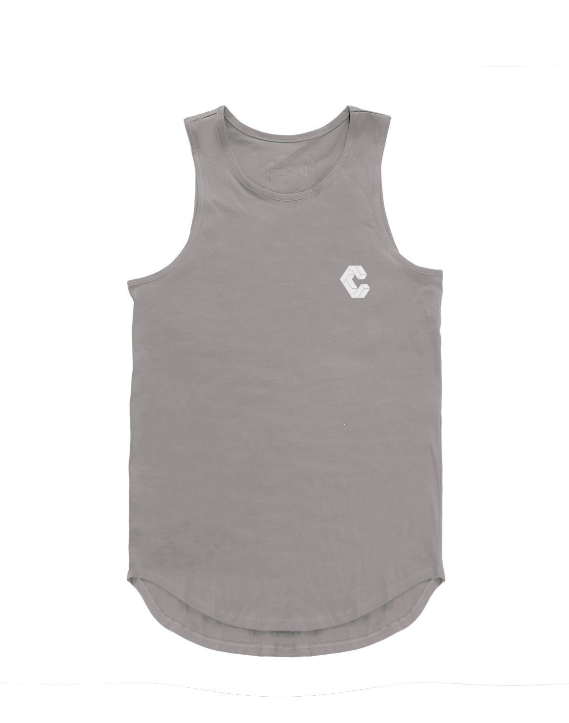 <img class='new_mark_img1' src='https://img.shop-pro.jp/img/new/icons1.gif' style='border:none;display:inline;margin:0px;padding:0px;width:auto;' />CRONOS BACK BOX LOGO TANK TOP 【LIGHT GRAY】