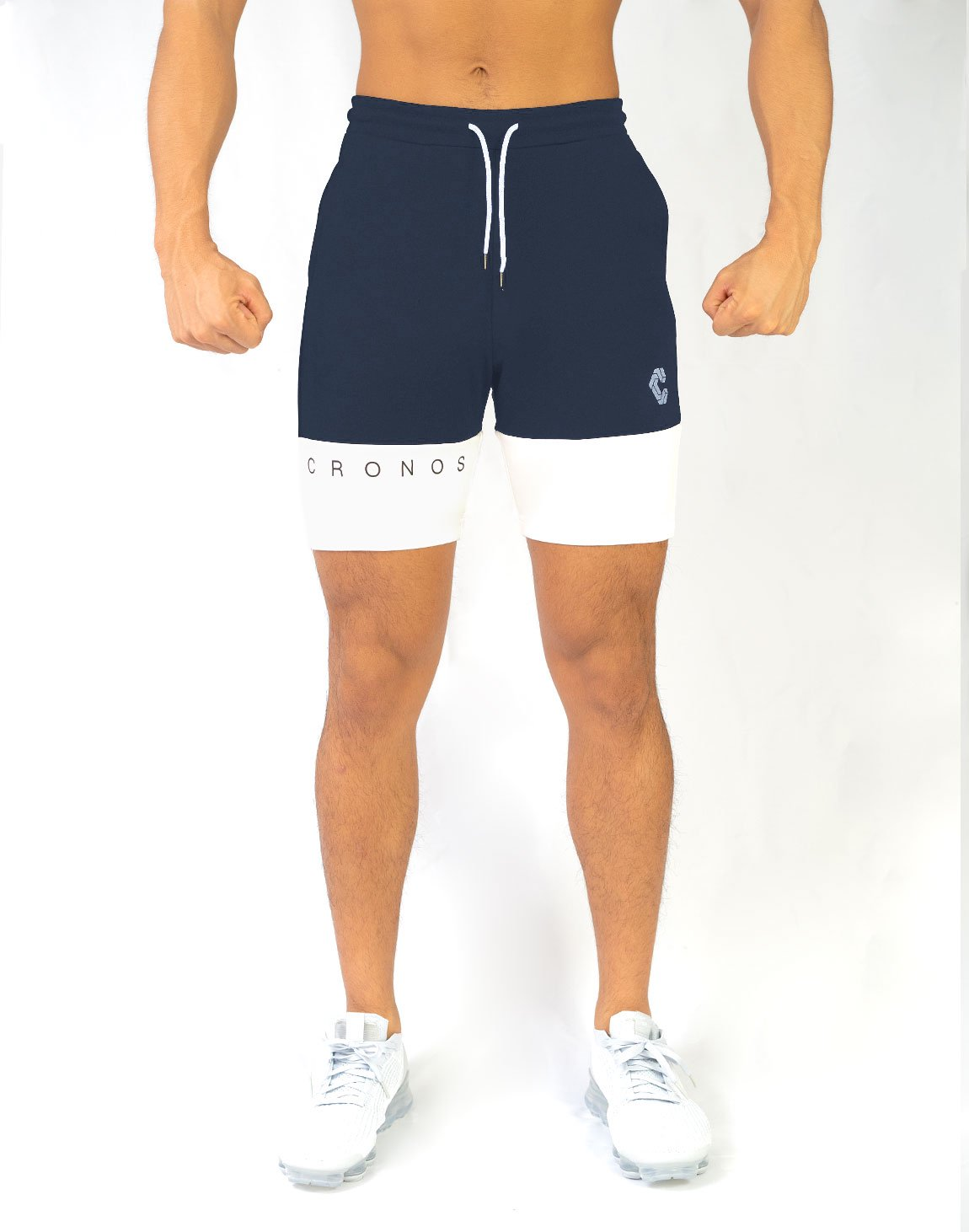 CRONOS TWO COLOR SHORTS【NAVY】