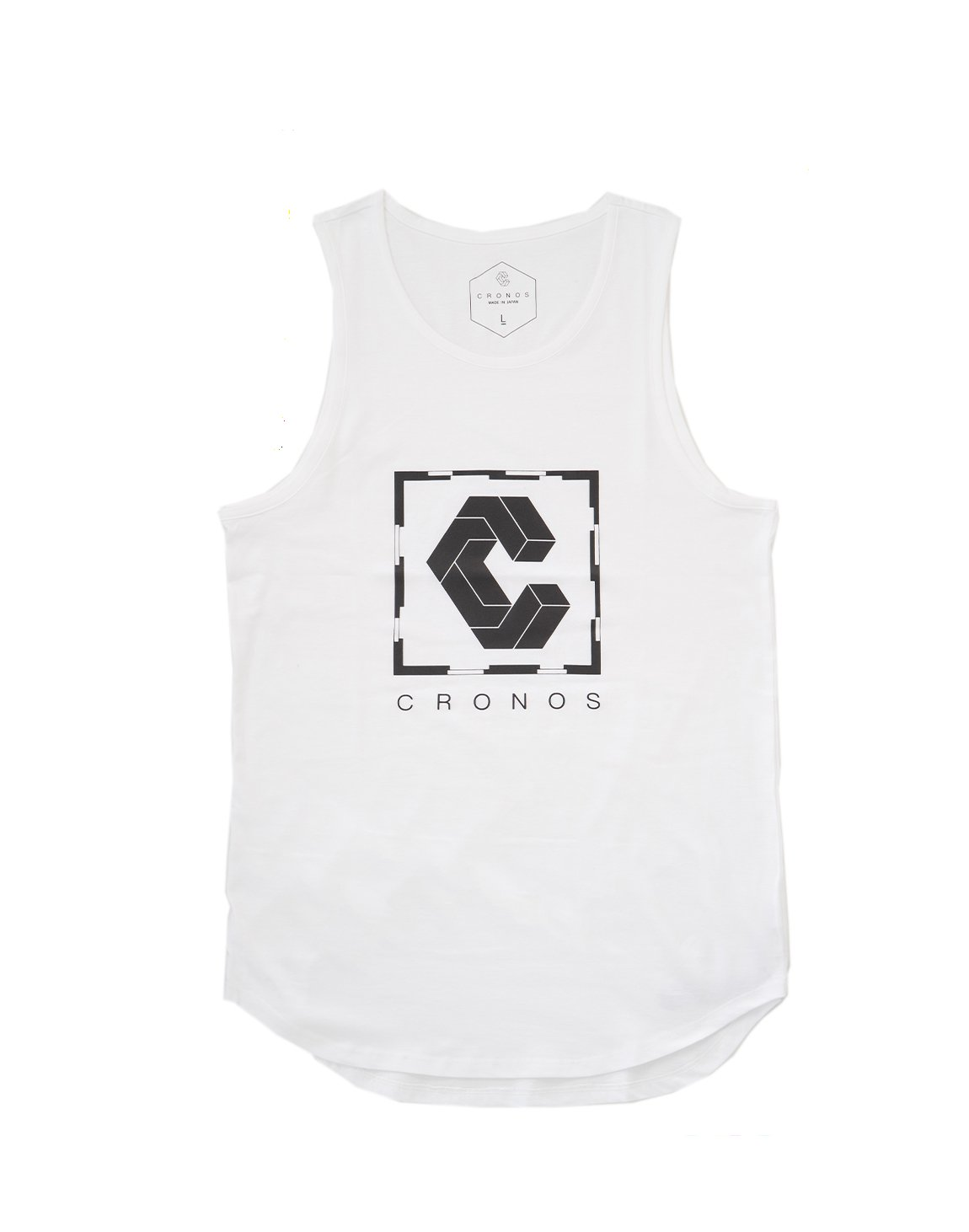 <img class='new_mark_img1' src='https://img.shop-pro.jp/img/new/icons1.gif' style='border:none;display:inline;margin:0px;padding:0px;width:auto;' />CRONOS SQUARE LOGO TANK TOP 【WHITE】