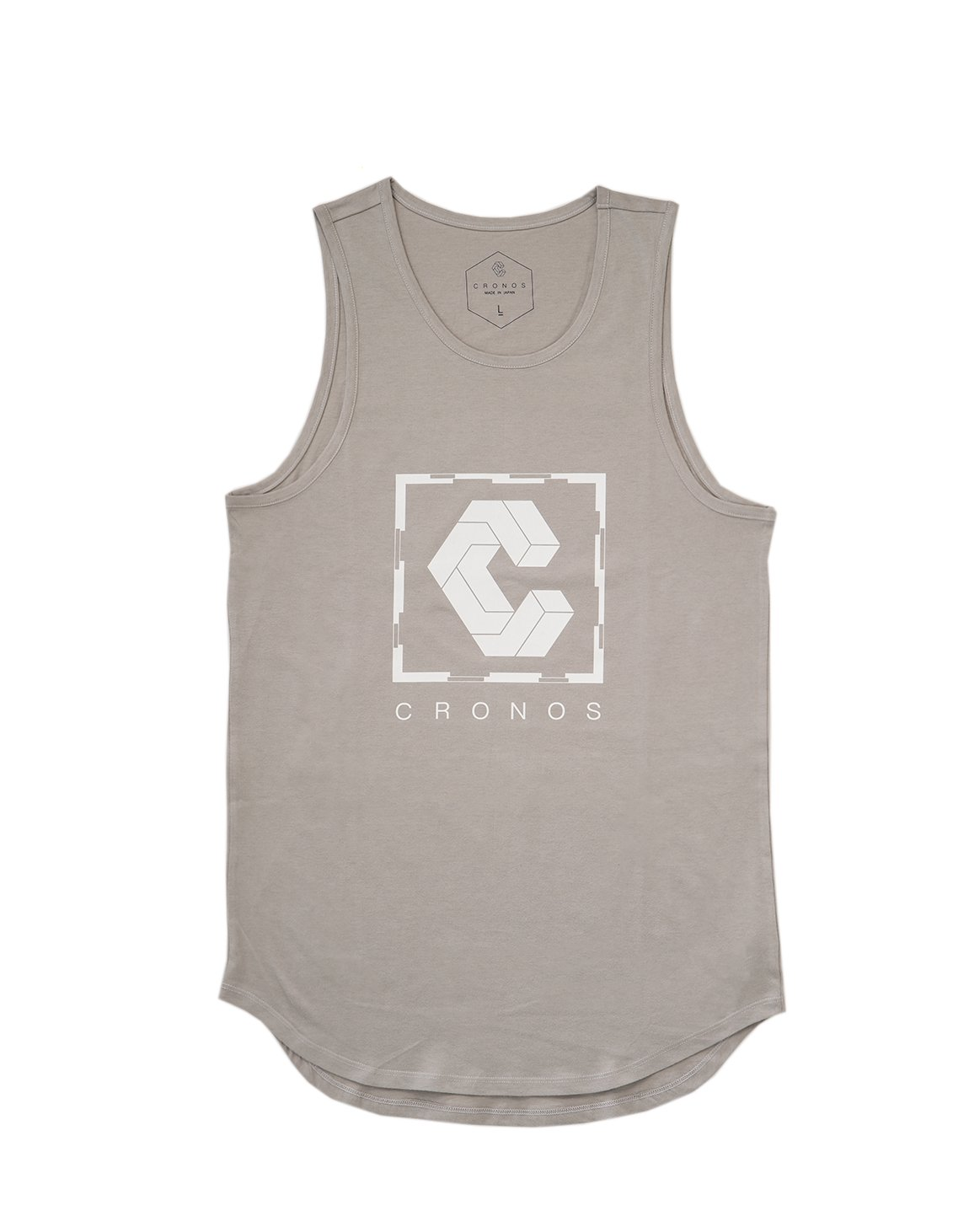 <img class='new_mark_img1' src='https://img.shop-pro.jp/img/new/icons1.gif' style='border:none;display:inline;margin:0px;padding:0px;width:auto;' />CRONOS SQUARE LOGO TANK TOP 【LIGHT GRAY】